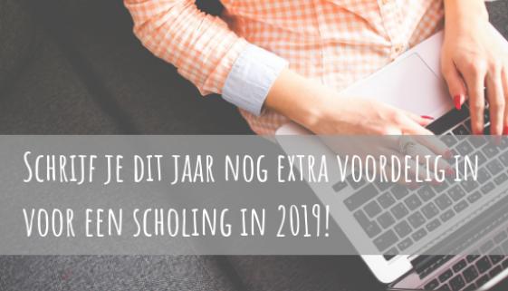 Schrijf je dit jaar nog extra voordelig in voor een scholing in 2019