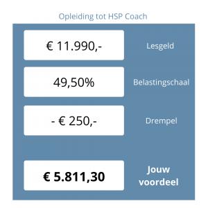 HSP coach opleiding belastingvoordeel